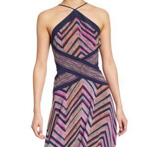 Ramy Brook Percy Chevron Print Silk Blend Dress